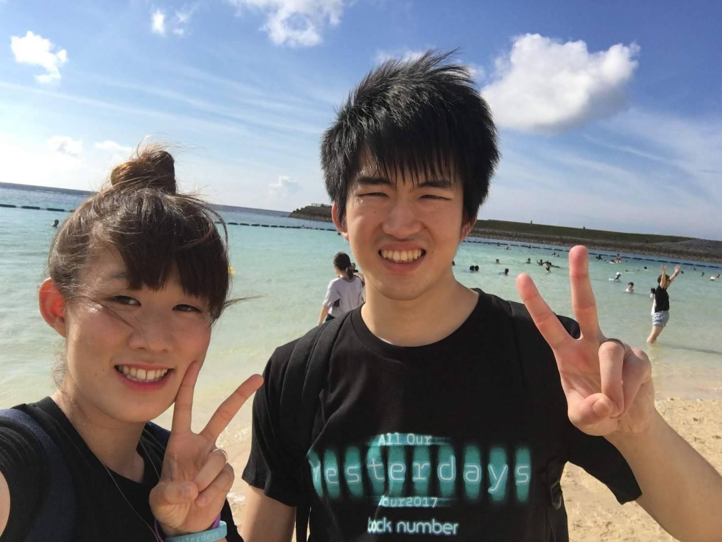 沖縄デートの写真
