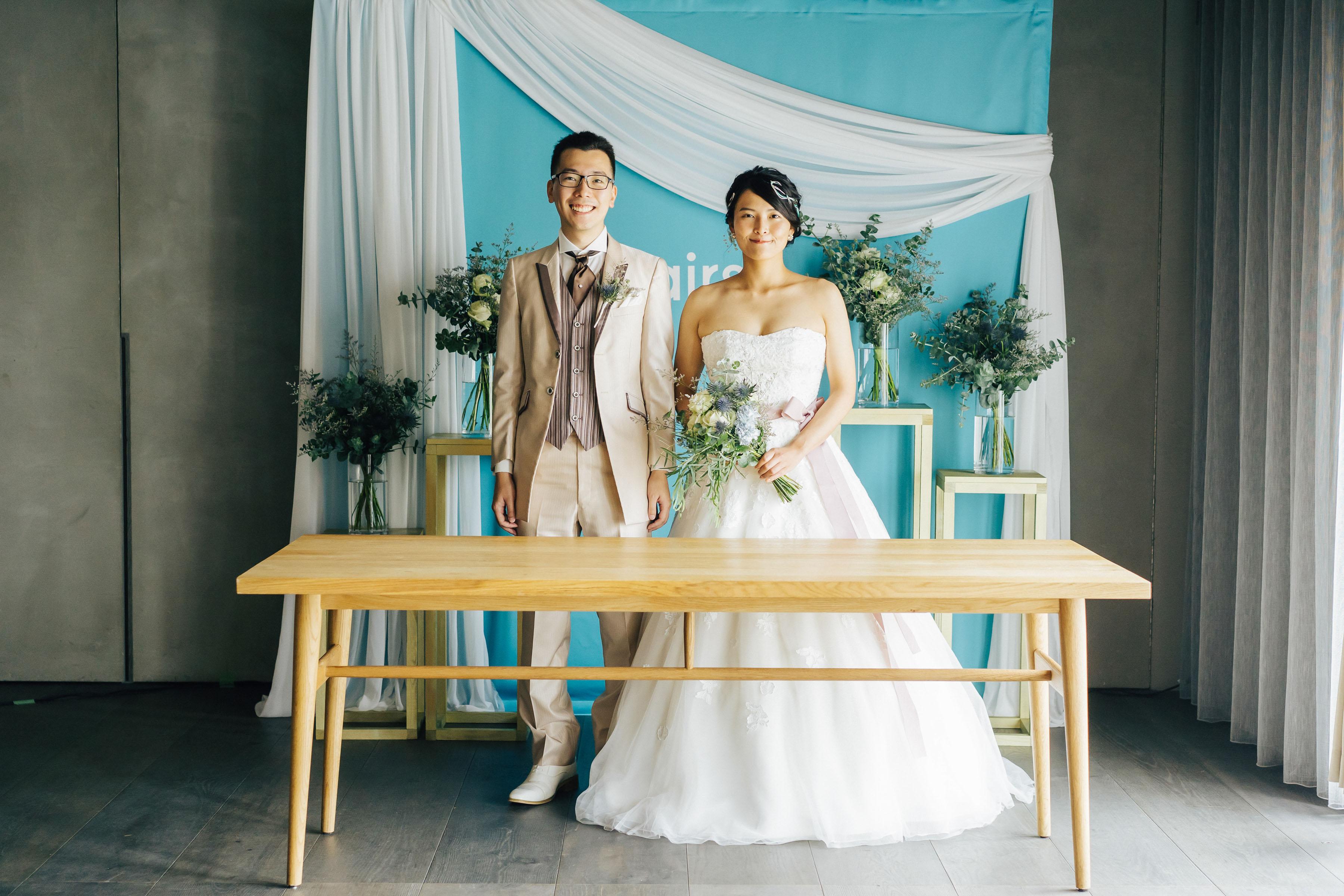 オンライン結婚式の記念写真